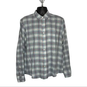 Faherty Long Sleeve Button Down Shirt Size Large